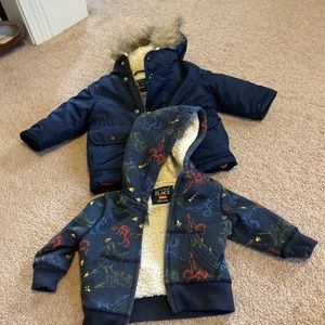 Lot of 2 baby boy coat and hoodie